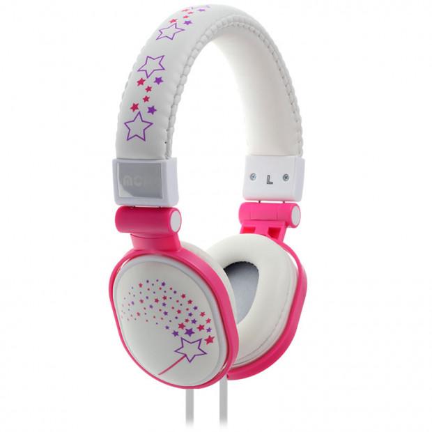 Moki Popper Headphones - Sparkles White