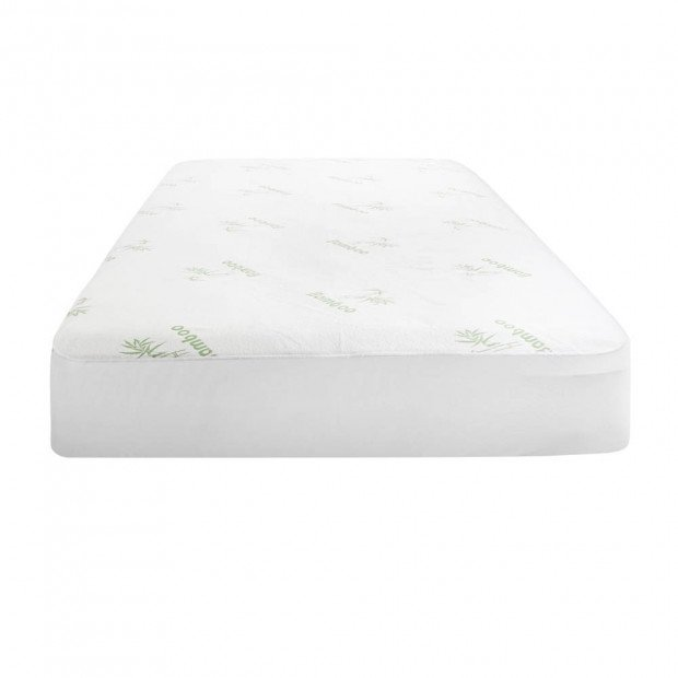 Bedding Bamboo Mattress Protector Queen Bed Image 3