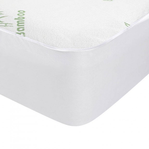 Bedding Bamboo Mattress Protector Queen Bed Image 4