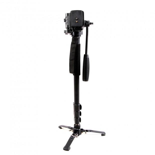 Extendable Portable Camera Monopod Tripod - Black Image 1