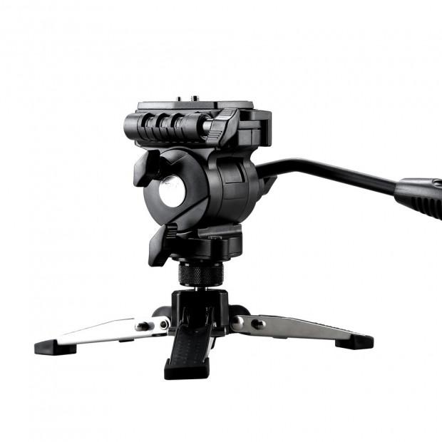 Extendable Portable Camera Monopod Tripod - Black Image 2