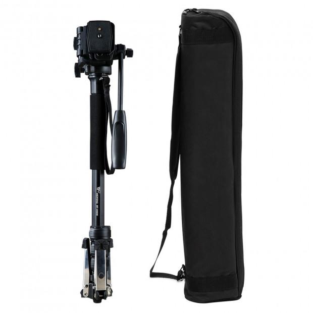 Extendable Portable Camera Monopod Tripod - Black Image 3
