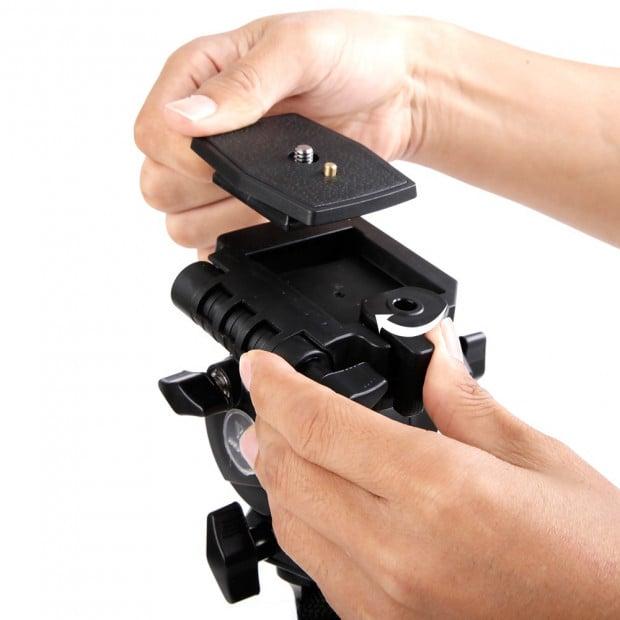 Extendable Portable Camera Monopod Tripod - Black Image 4