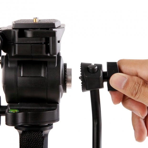 Extendable Portable Camera Monopod Tripod - Black Image 5