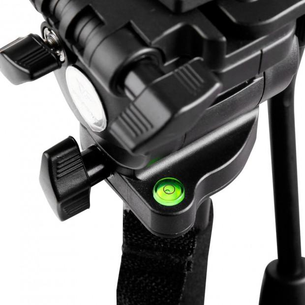 Extendable Portable Camera Monopod Tripod - Black Image 6