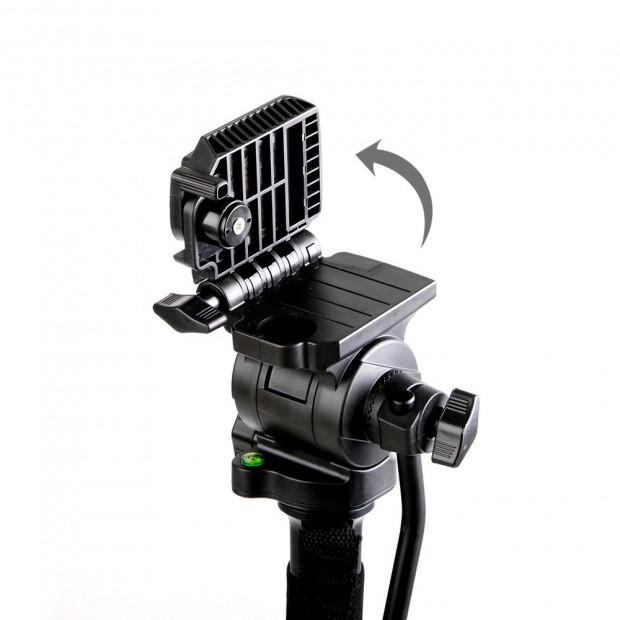 Extendable Portable Camera Monopod Tripod - Black Image 7