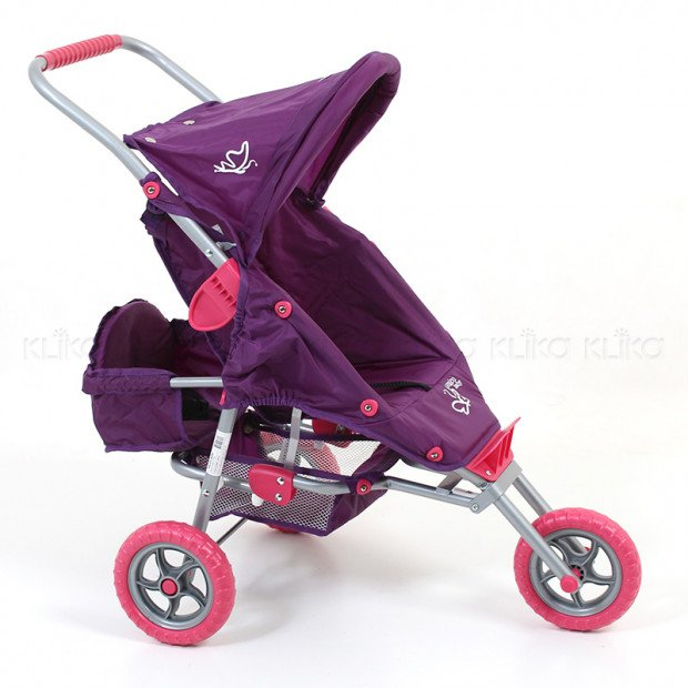 Valco Baby Mini Doll Marathon with Toddler Seat - Purple
