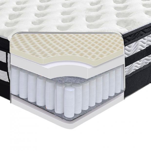 35cm Pocket Spring Foam Euro Top Mattress King Single Image 2