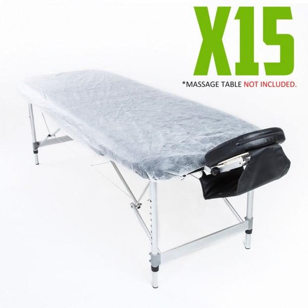 Disposable Massage Table Cover 180cm x 75cm 15pcs