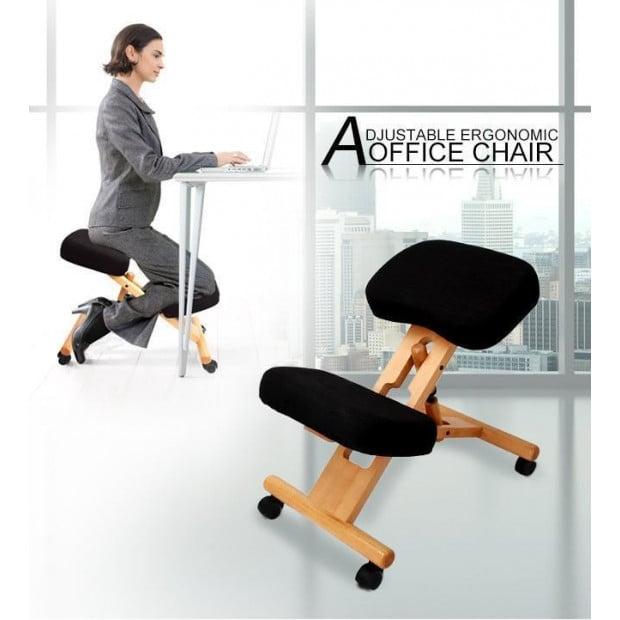 Ergonomic Kneeling Chair - BLACK