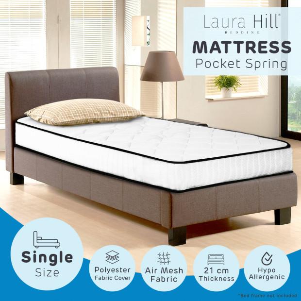 Laura Hill Pocket Spring Mattress - King Single