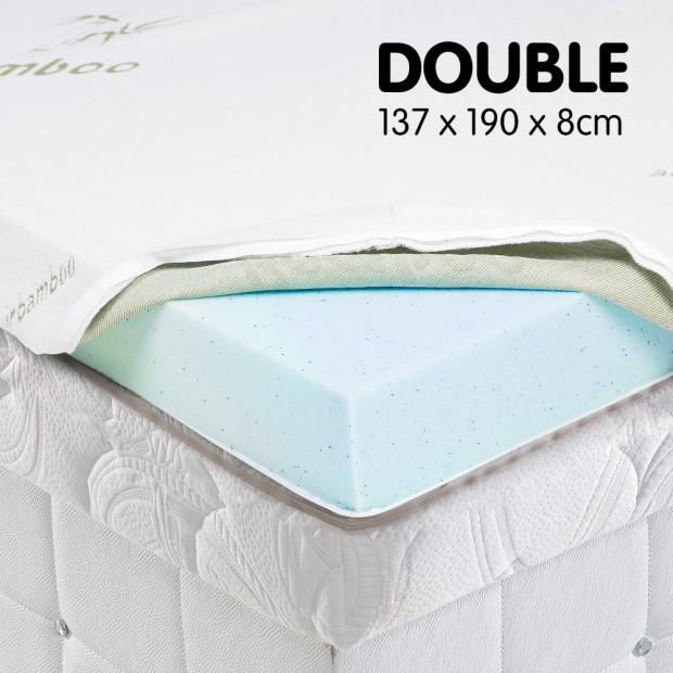 Cool GEL Memory Foam Mattress Topper - Double