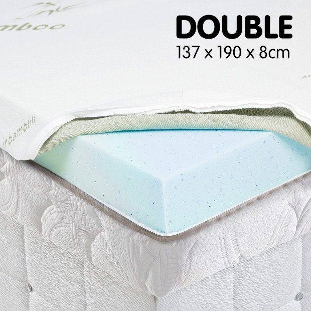 Cool GEL Memory Foam Mattress Topper - Double