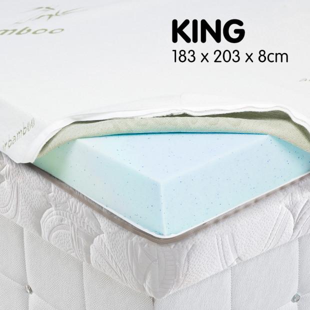 Cool GEL Memory Foam Mattress Topper - King