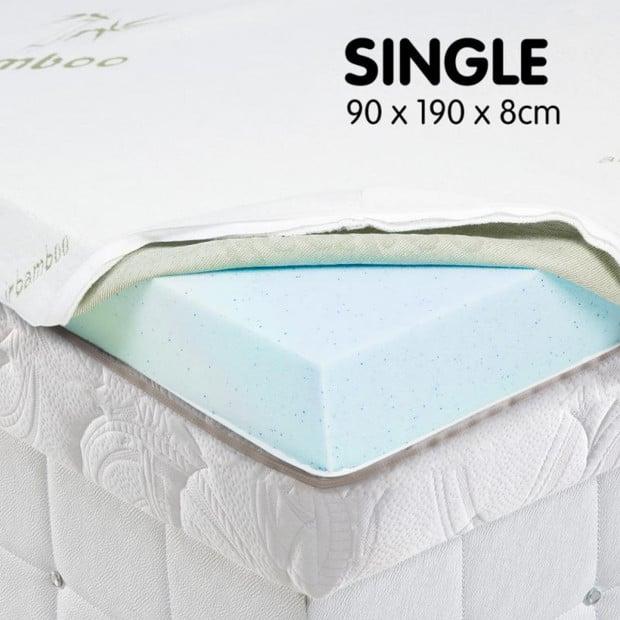 Cool GEL Memory Foam Mattress Topper - Single