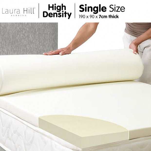High Density Mattress foam Topper 7cm - Single