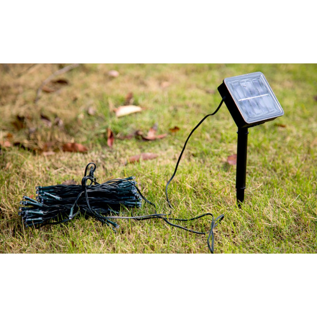 200led 25m Solar Power Thicker String Light Warm White Image 2
