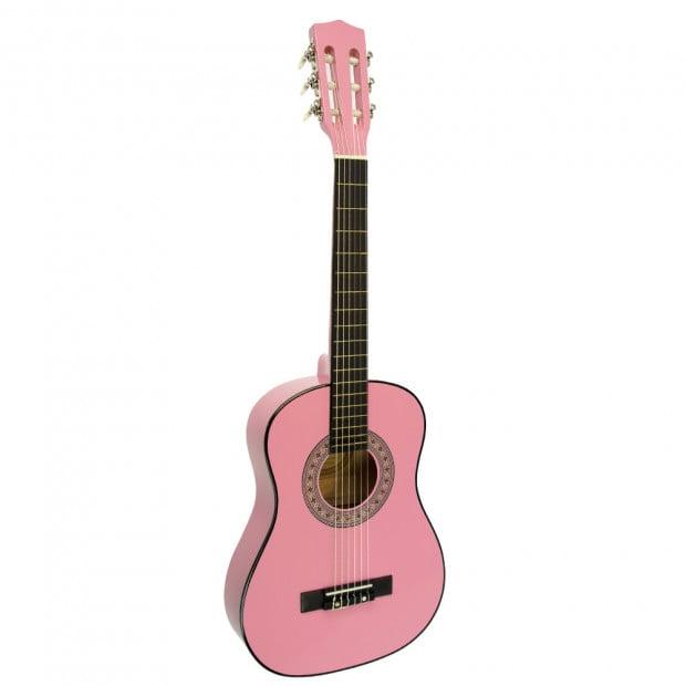 Childrens no-cut acoustic guitar - Pink