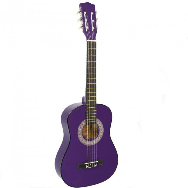 Childrens no-cut acoustic guitar - Purple