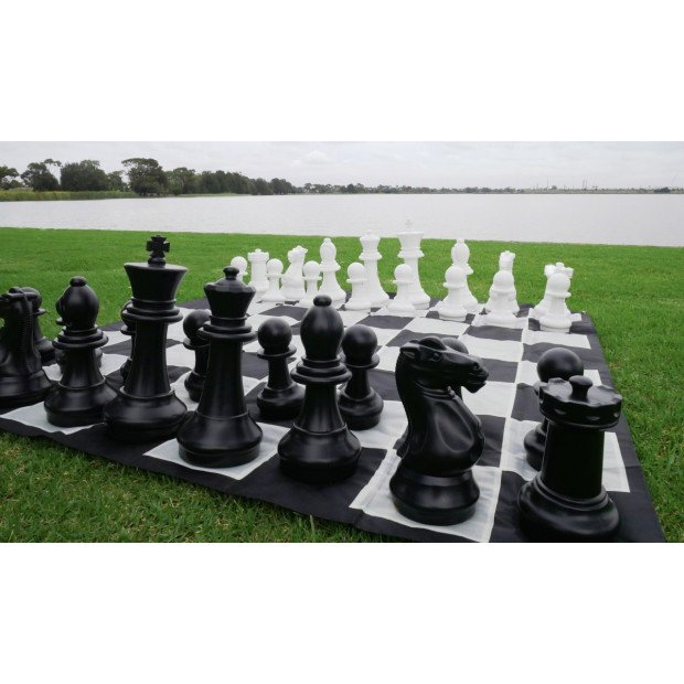 Giant Size Plastic Outdoor Chess Game Set 1.5x1.5m Image 2