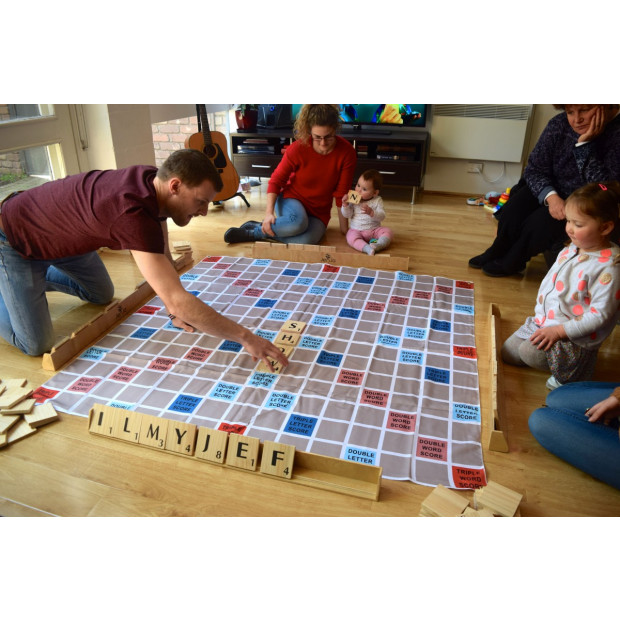 Giant Size Scrabble Set With Carry Bag 1.5x1.5m Image 2