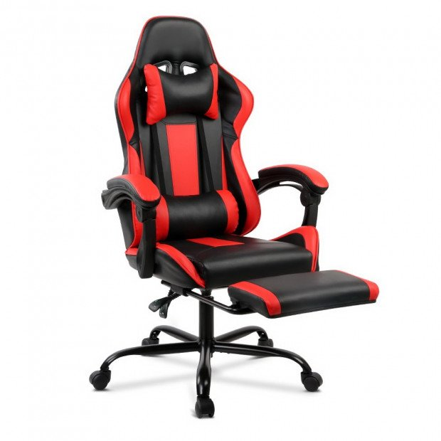 Gaming Office Chair Computer Seating Racer Black and Red Image 1