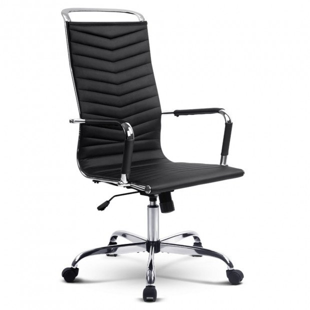 Eames Replica Office Chair High Back Seating PU Leather Black