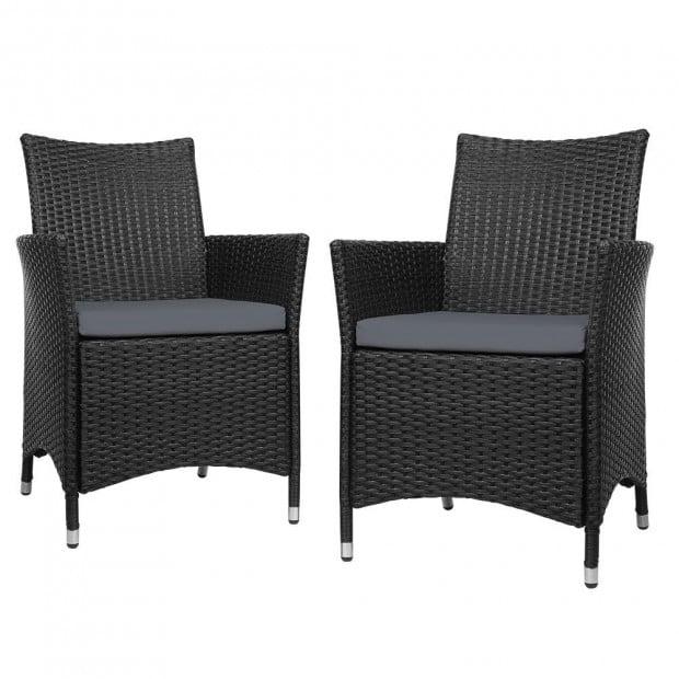 Outdoor Bistro Set Chairs Patio Furniture Dining Wicker Garden