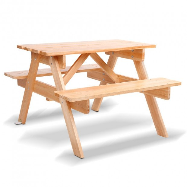 Kids Wooden Picnic Bench Set - Vivid