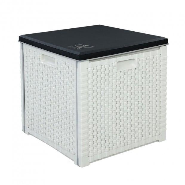 Outdoor Storage Box Seat Bench Deck Organiser 106L