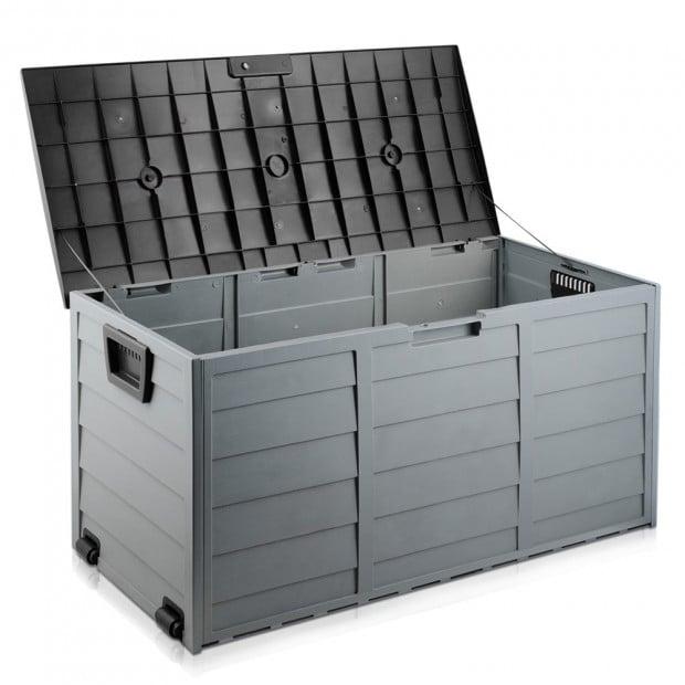 290L Outdoor Weatherproof Storage Box - Black