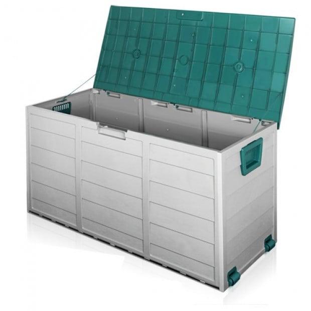 290L Outdoor Weatherproof Storage Box - Green