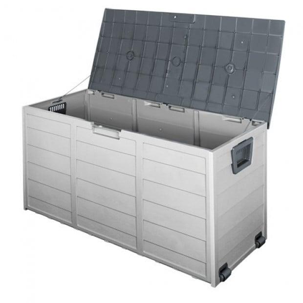 290L Outdoor Weatherproof Storage Box - Grey