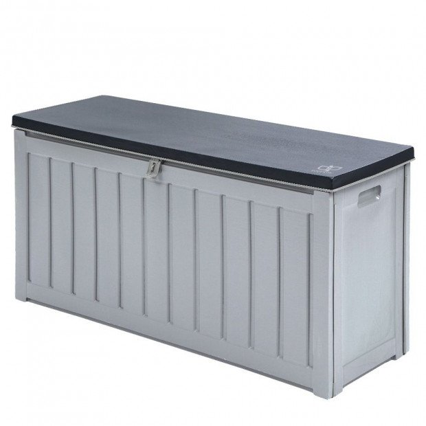Outdoor Storage Box Bench Seat Lockable 240L - Grey
