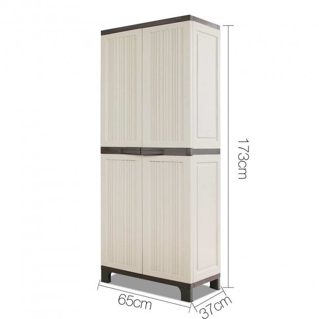 Outdoor Lockable Tall Size Adjustable Cabinet Cupboard - H1D Image 2
