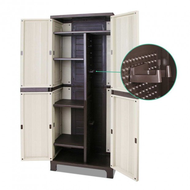 Outdoor Lockable Tall Size Adjustable Cabinet Cupboard - H1D Image 5