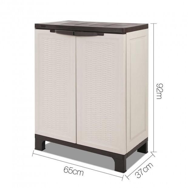 Outdoor Lockable Half Size Adjustable Cabinet Cupboard -L2F Image 1