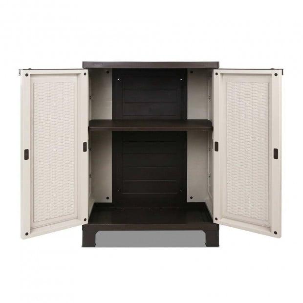 Outdoor Lockable Half Size Adjustable Cabinet Cupboard -L2F Image 3
