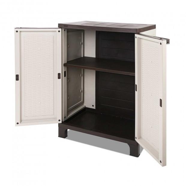 Outdoor Lockable Half Size Adjustable Cabinet Cupboard -L2F Image 4