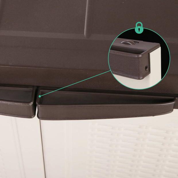 Outdoor Lockable Half Size Adjustable Cabinet Cupboard -L2F Image 5