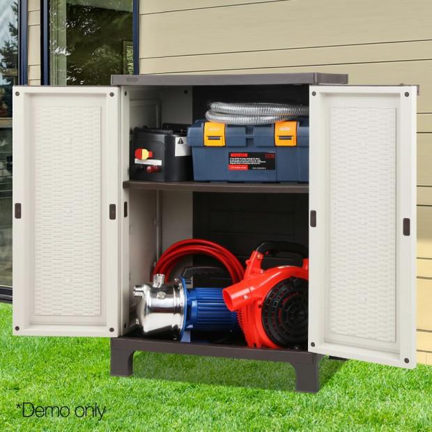 Outdoor Lockable Half Size Adjustable Cabinet Cupboard -L2F Image 7