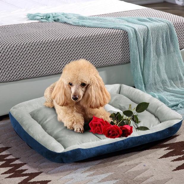 Heavy Duty Pet Bed Mattress Navy - Medium