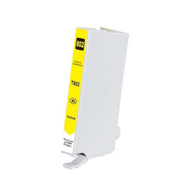 Suit Epson. Yellow Compatible Inkjet Cartridge (Replacement for 802XL)