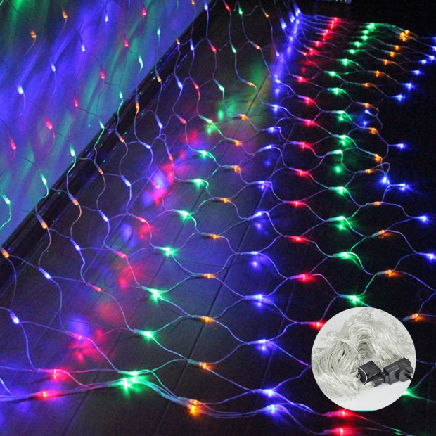 Led Fairy Net Lights 2x3m Multicolor Image 1