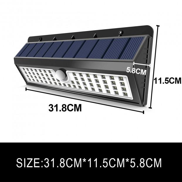 90 LEDs Solar Powered Wireless Motion Sensor Light Image 5