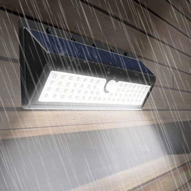 90 LEDs Solar Powered Wireless Motion Sensor Light Image 3