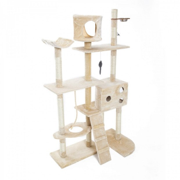 Cat Tree Scratcher DANIE 177 cm - BEIGE Image 1