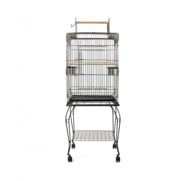 i.Pet Large Bird Cage with Perch - Black Image 2