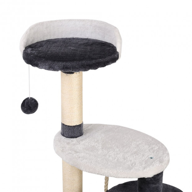 112cm Cat Scratcher Pole - White and Grey Image 5