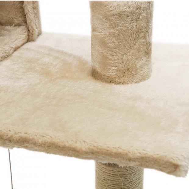 i.Pet 180cm Multi Level Cat Scratching Post - Beige Image 5